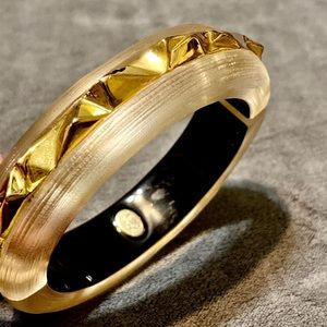 Alexis Bittar Gold Spike Lucite Bangle